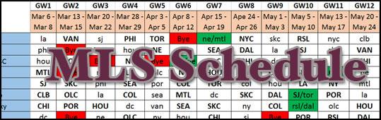 MLSFB Full 2016 Season Schedule - Preseason Draft 1