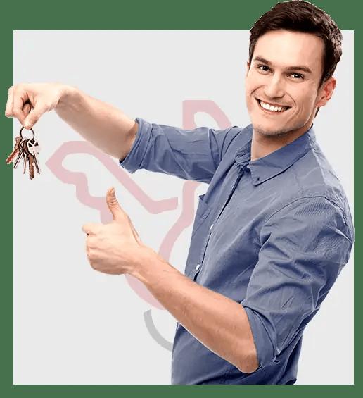 Guy Holding Keys