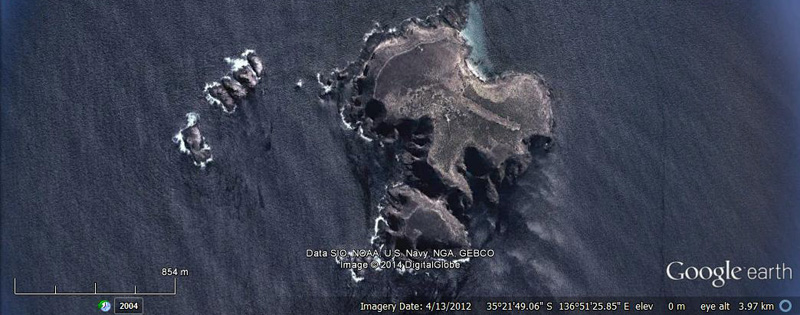 Althorpe Islands Google Earth 2012