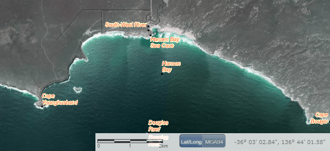 Property Location Browser - Hanson Bay, Kangaroo Island