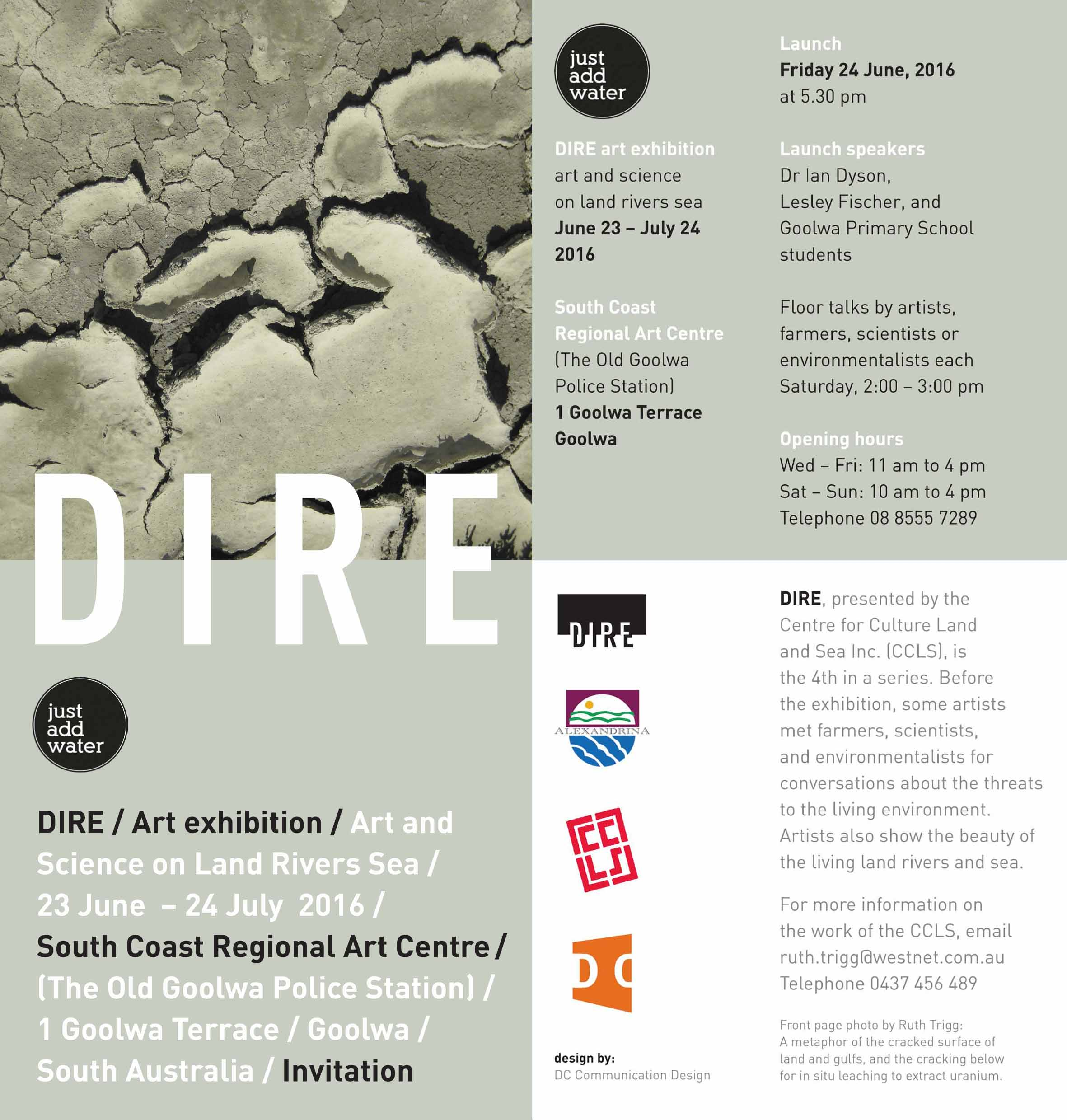 Art Exhibition Dire Art And Science On Land Rivers Sea