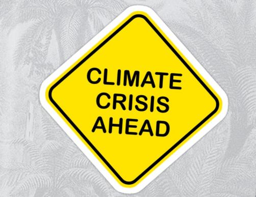 Climate Crisis Ahead - Sticker by MLSSA Member Dan Monceaux