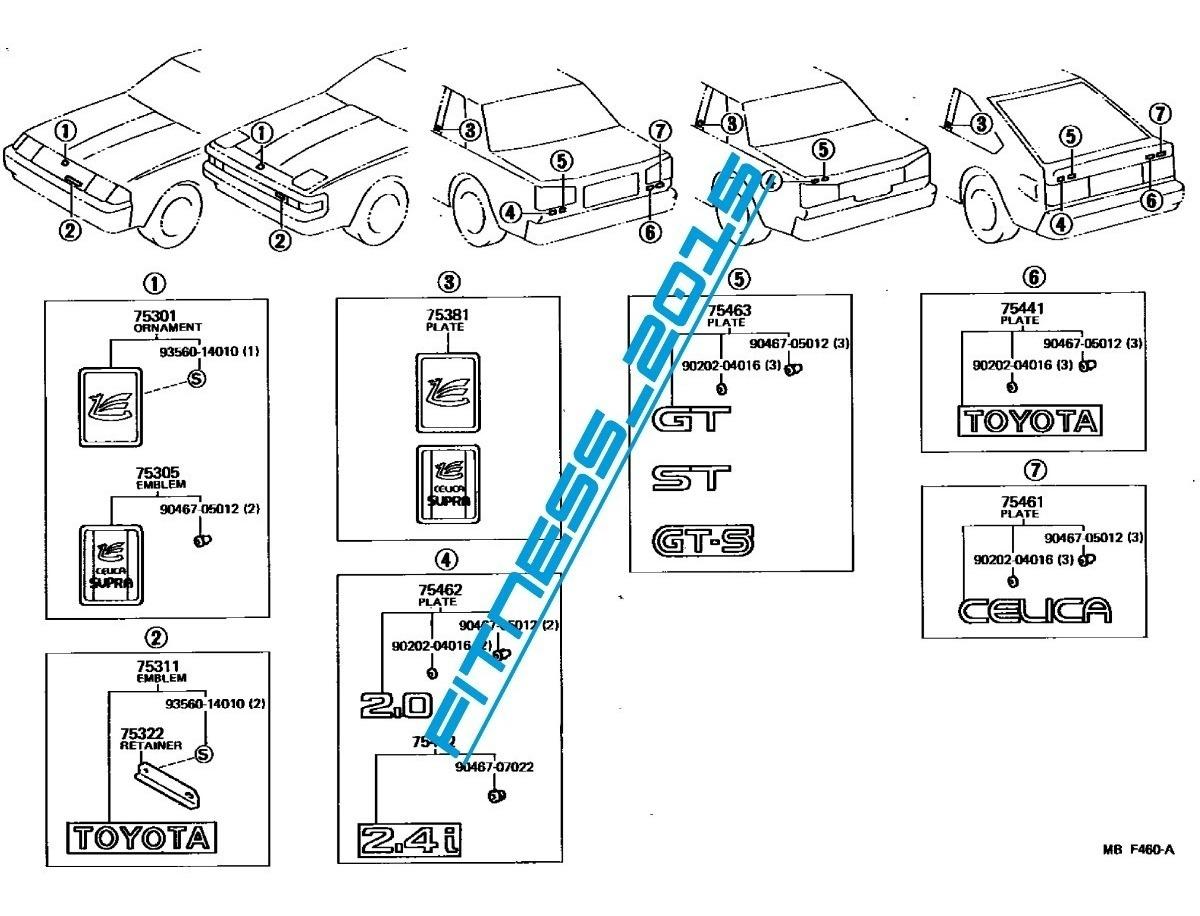 Manual Despiece Catalogo Toyota Celica