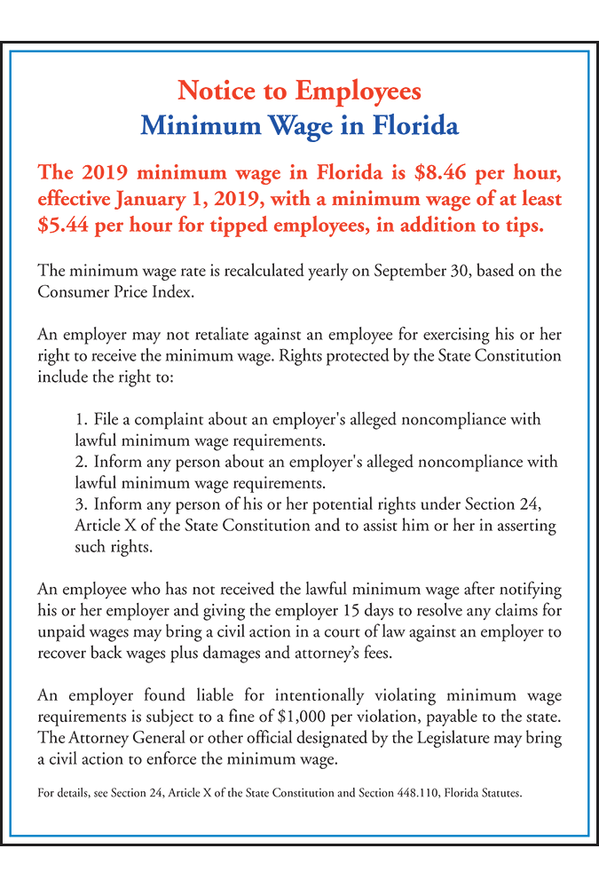 mandatory florida poster update 2019