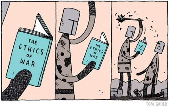 Ethics of War Cartoon