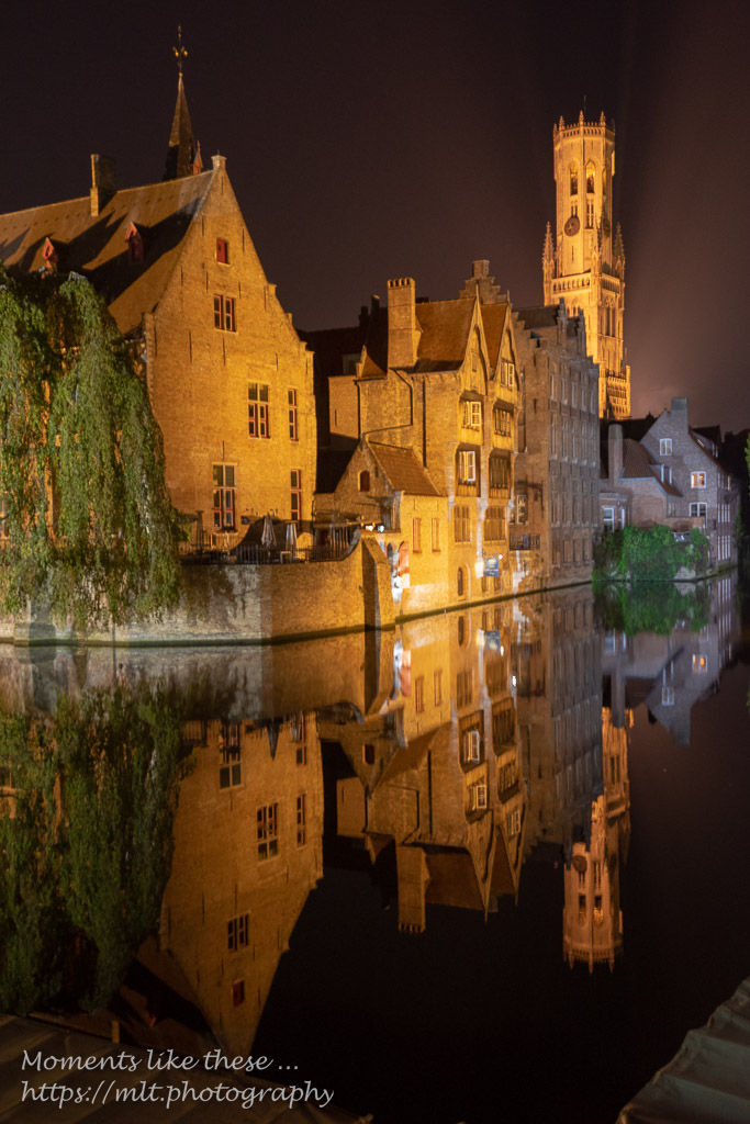 Reflections at Rozenhoedkaai, Bruges