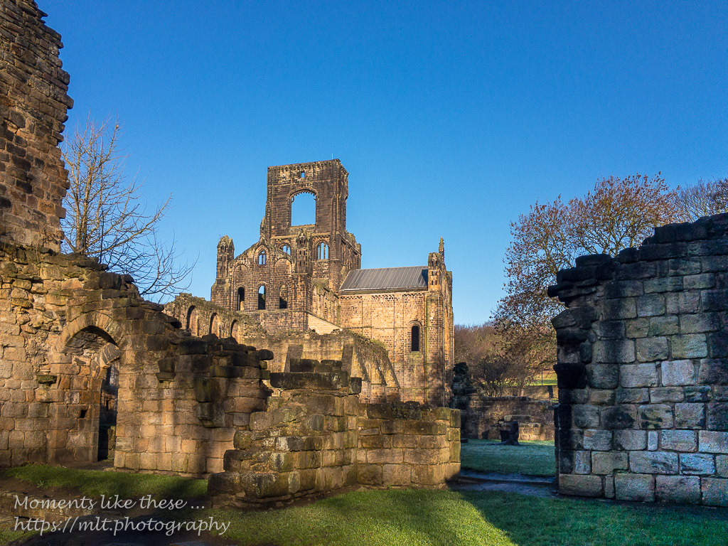 Kirkstall Abbey on Christmas Eve