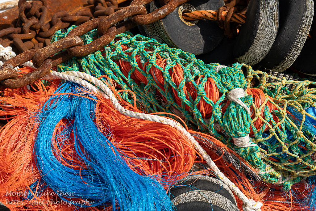 Colourful rope work