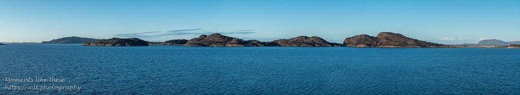 Island panorama - leaving Trondheim