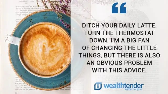 quote - ditch your daily latte