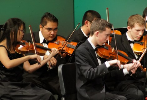 The MTHS orchestra