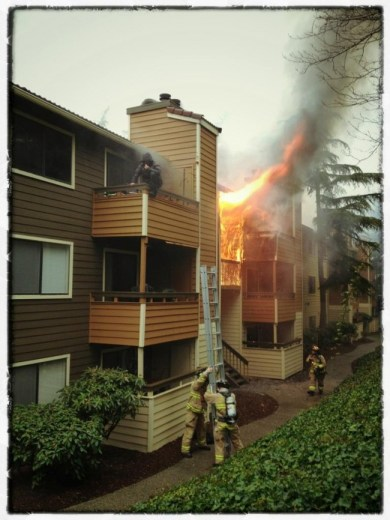 Taluswood Apartments fire rescue.