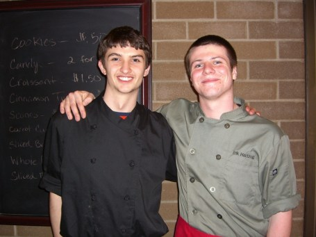 Mountlake Terrace's Jeremy Hargiss and Erik Hartzog won the Iron Chef Edmonds School District competition.