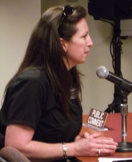 Sherry Jennings, Diamond Knot Craft Brewing Director of Communications making the announcement at Monday's council meeting;