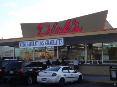 Dick's at 220th Street Southwest and Highway 99 welcomes graduates.