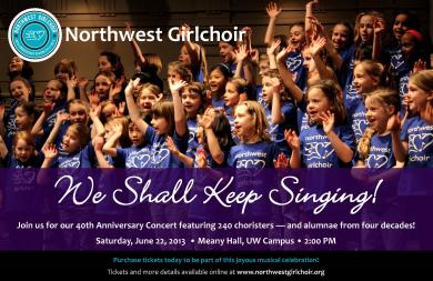 NW Girlchoir 40th Anniversary Concert Poster
