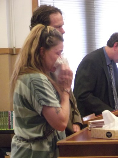 Shellie Rose Collins at her sentencing hearing July 25