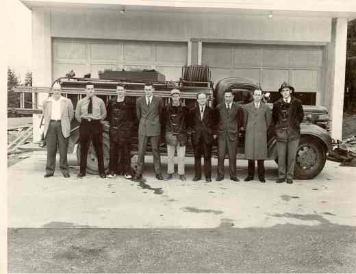Photo of first MLT Fire Department (McMahan is second from left).