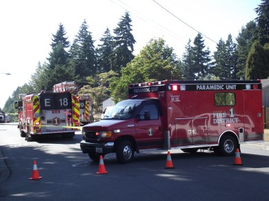 Snohomish County Fire District 1 crews responded to a natural gas leak on 236th Street SW in Mountlake Terrace on Aug. 21