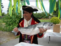 """A salmon giveaway at the """"Brier Salmon Derby."""""""