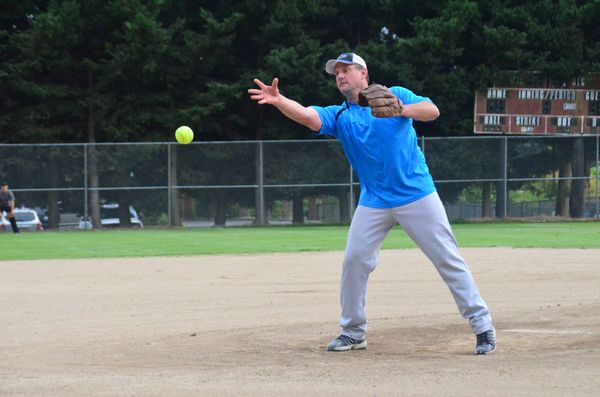 Mountlake Terrace pitcher (and Police Chief) Greg Wilson's aim was right on as he threw strike after strike.