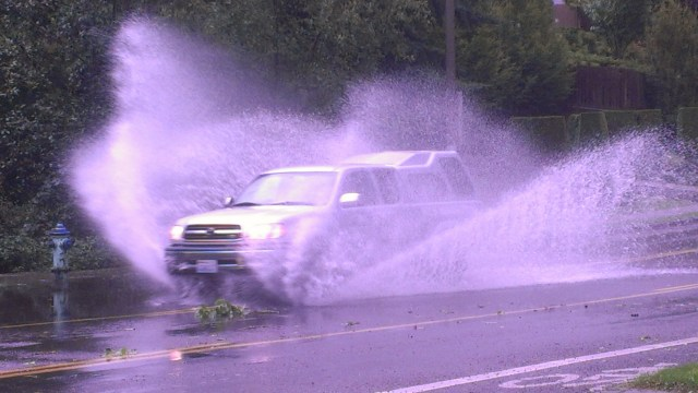 From Doug Petrowski, scenes from the downpour in Mountlake Terrace Saturday.
