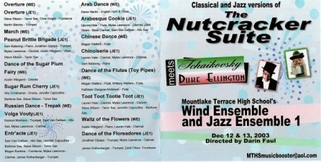 Tchaikovsky meets Duke Ellington vintage CD cover 2003 recording MTHS bands!