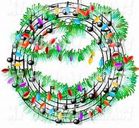 Holiday music clip art
