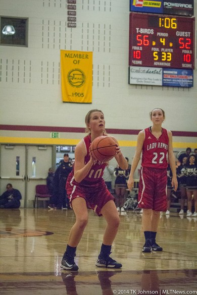 Nikkie Froelich shoots a free throw.