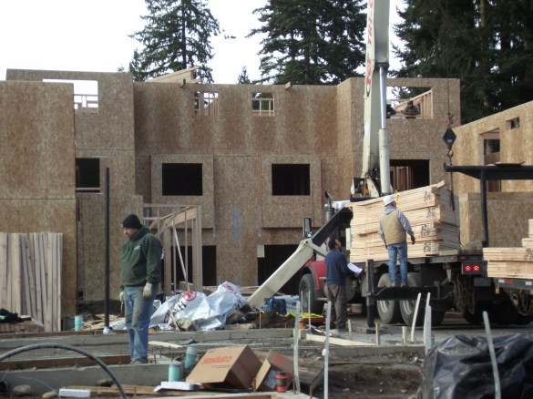 Construction of 54th Avenue Townhomes on the 23200 block of 54th Avenue West.