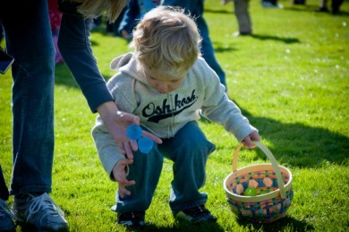 A scene from the 2012 MLT Easter Egg Hunt. (Photo by Mark Hopkins)