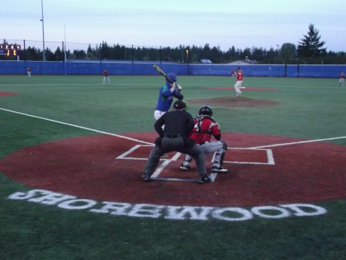 Jason Shevenko pitched five innings for the Hawks Friday night at  Meridian Park Fields.