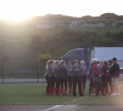 MTHS vs. Meadowdale, District 1 3rd place game, May 22  sunset