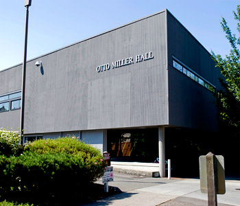 Otto Miller Hall is located directly across 3rd Avenue West from the SPU athletic department located inside Royal Brougham Pavilion