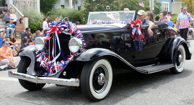 The Alderwood-Terrace Rotary Club had a vintage car in the parade to remind everyone of the upcoming seventh Annual Concours d'Elegance at The Wood July 12 at the Lynnwood Golf Course.