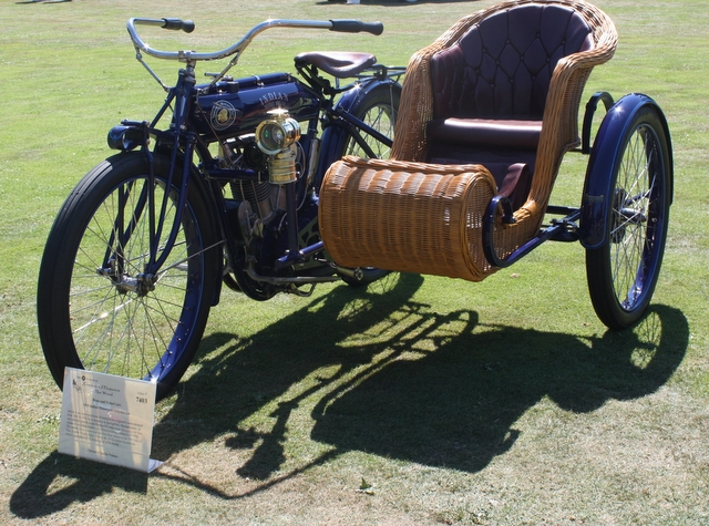 A 1910 Indian with sidecar