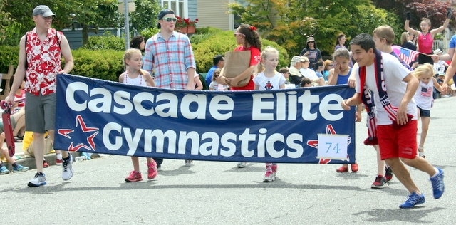 Cascade Elite Gymnastics marched in the parade.