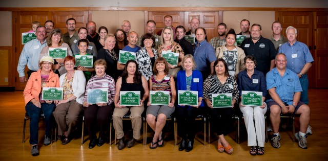 A group photo of the Evergreen Award winners for 2014. (Photo by Mark Hopkins)