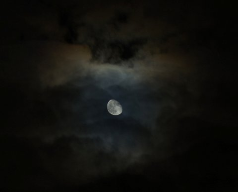 Photographer David Carlos took this shot of a ring around the moon over Mountlake Terrace.