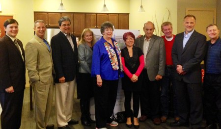 The Mountlake Terrace City Council poses with its state legislators during an appreciation reception Thursday at Arbor Village.