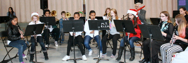 The Mountlake Terrace Elementary Band performed Saturday during the school's Holiday Craft Fair.