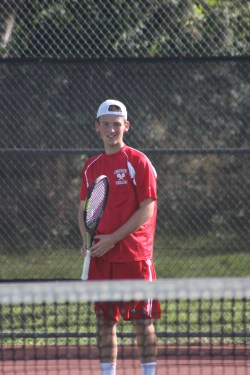 Jeremy Ansdell had gone 9-0 in individual singles' matches before losing his first of the year Monday to Shorecrest's Emahd Khan. (File photo by Doug Petrowski)