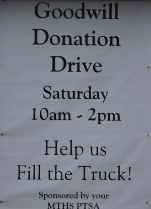 MTHS Goodwill drive, Sept. 10 001