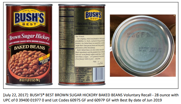 Bush Brothers Recalls Three Types of Baked Beans