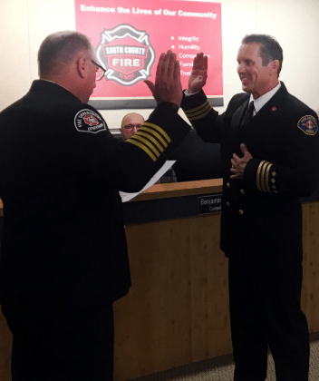 New Deputy Chief Of Operations Sworn In During South County Fire Board Meeting