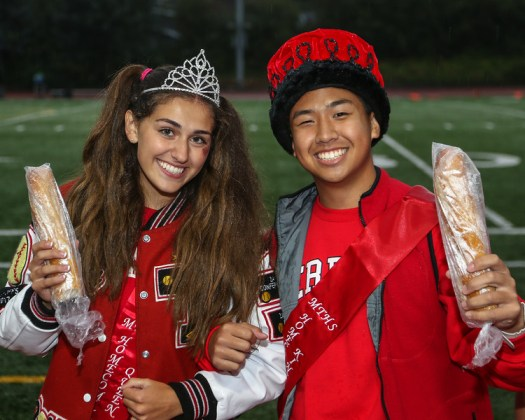 Homecoming Queen and King Kennedy Cooper and Andy Shaw