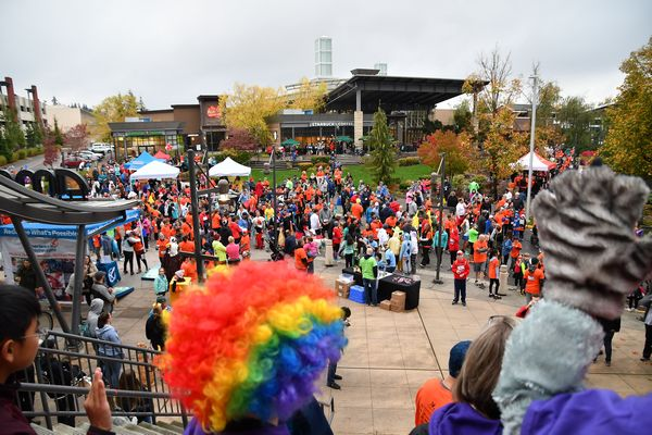 An estimated crowd of 2,500 gathered to cheer on the more than 1,300 runners in Saturday's Celebrate Schools 5K Fun Run.