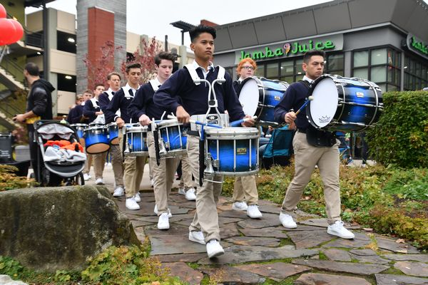 Meadowdale's drum line entertains the crowd.