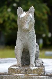 Fox Statue at Magnolia Cemetery