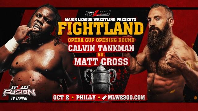 Matt Cross vs. Calvin Tankman added to FIGHTLAND